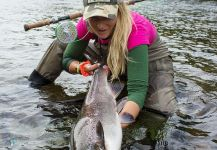 Fly-fishing Picture of Atlantic salmon shared by Resiastua Lodge | Fly dreamers