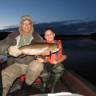 Igloo Lake lodge is a great area to bring kids fishing - they catch & release many Brook Trout!