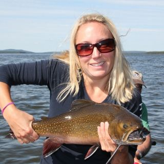 Lots of large brook trout at Igloo Lake Lodge in Labrador