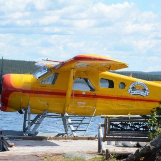 At Igloo Lake Lodge we use our Beaver floatplane for optional fly outs for Atlantic Salmon & Arctic Char.