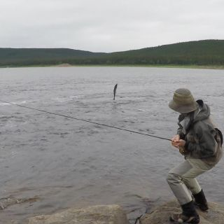 We offer optional fly-outs for trophy Atlantic Salmon July 15 to August 10