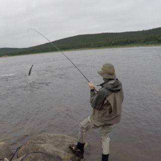 Atlantic Salmon fishing - just 15 minutes from Igloo Lake Lodge.