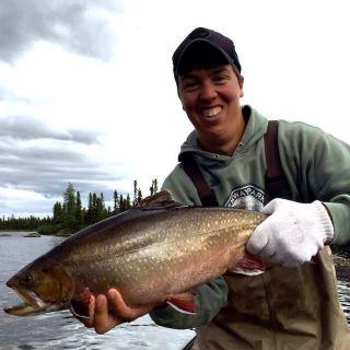 Monster brook trout at Igloo Lake Lodge Labrador 2016
