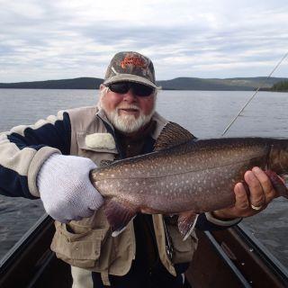 Happy guest at Igloo Lake Labrador