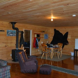 Nice new accommodations at Igloo Lake Lodge - full bathrooms off the bedroom in Labrador Room