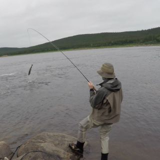 Atlantic Salmon fishing - just 15 minutes from Igloo Lake Lodge.