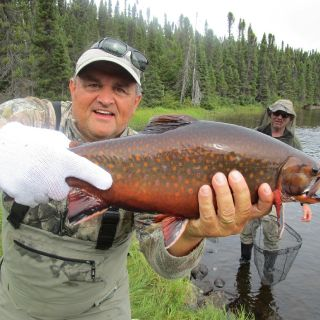September offers outstanding colors on Brook Trout at Igloo Lake Labrador