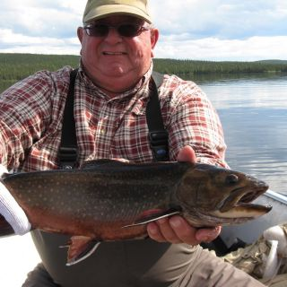 Gord Cuming with a healthy Igloo Lake Labrador Brook trout!