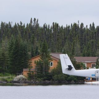 Air Labrador Twin Otter moves our groups of 10 from Goose Bay to Igloo Lake Lodge Labrador.