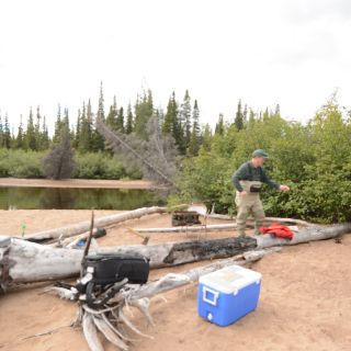 Arctic Char fishing (optional fly out) from Igloo Lake, Labrador. Guests fly fish over hundreds of Arctic Char!