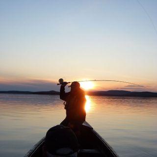 Scenic sunset at Igloo Lake Labrador