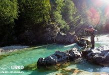 Marble Trout Fly-fishing Situation – Uros Kristan shared this Photo from Soca river in Fly dreamers