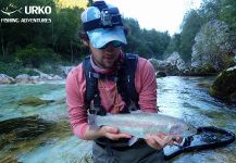 Nice Fly-fishing Situation of Rainbow trout - Picture shared by Uros Kristan from Soca river | Fly dreamers
