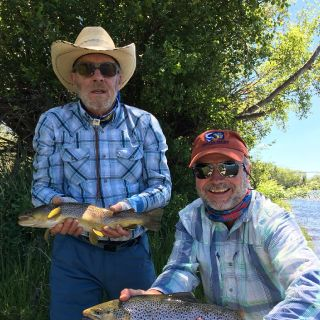 Madison River double on salmon fly dry flies