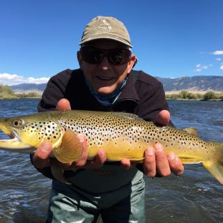 Hopper fishing on the Madison River near Cameron Montana