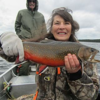 September Brookie at Igloo Lake Lodge Labrador