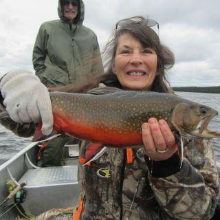 September Brookie at Igloo Lake Lodge Labrador