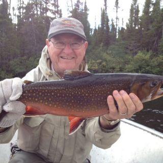 Big Brook Trout at Igloo Lake Labrador