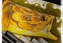 Cool Fly-fishing Art Pic shared by Kid Ocelos