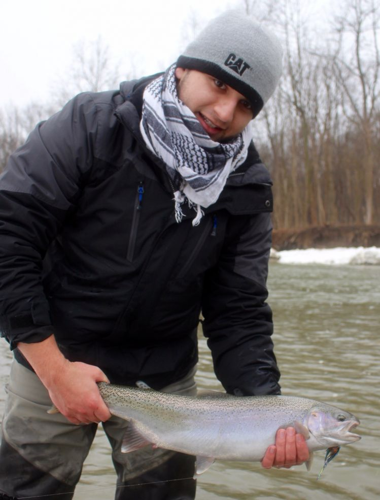 Fishing report lake erie tributaries by daren niemi fly for Fishing report ohio