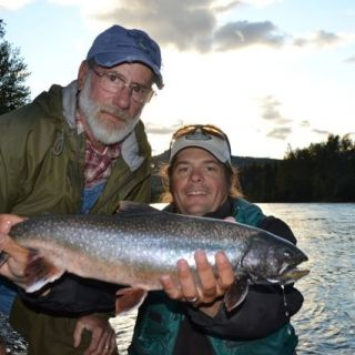 Fly fishing for Dolly Varden on the Kenai River.