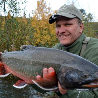 What a Dolly caught on the Kenai River while fly fishing with Kenai Experience.