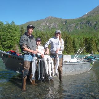Nice catch of Sockeye Salmon on the Kenai River