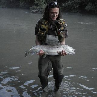 Marble trout from riverIdrijca