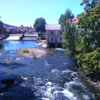 Urban fishing river Ljubljanica (In Ljubljana)