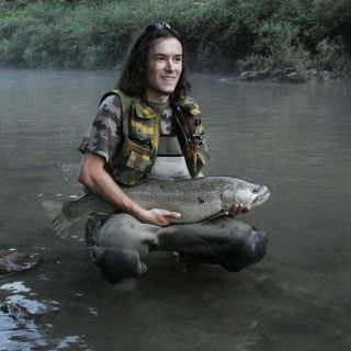 Marble trout from river Idrijca