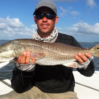 Topwater redfish.