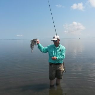 Great conditions for picking off black drum!