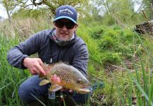 Ed Hoy 's Fly-fishing Catchof a brown trout| Fly dreamers
