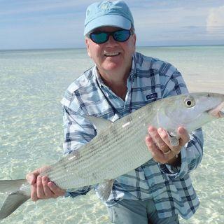 Nice bonefish caught on the flats Eastend Grand Bahama Bahamas