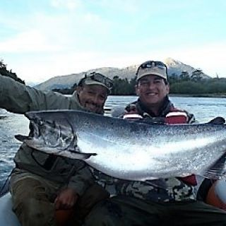 WE SUPPLY THE FLY RODS & REELS (NAUTILUS) FOR THE CHINOOK AND FOR THE OCEAN FISHING.