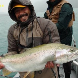 TROPHY RAINBOW - LAKE YELCHO  MONSTERS OVER 20 LB & EVEN WORLD RECORD TROUT ARE POSSIBLE