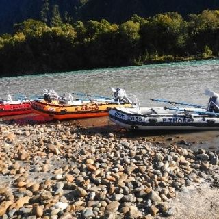 HIGHLY CUSTOMIZED INFLATABLES WITH CASTING PLATFORMS FORE & AFT.  VERY SAFE AND EXCELLENT TO MANEUVER THE RIVER AND FLOAT FISH THE RIVER