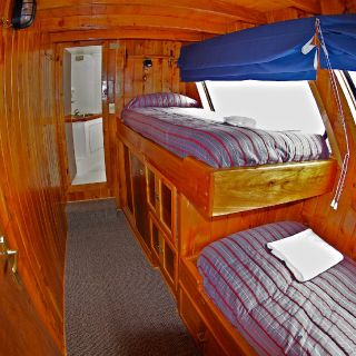 1 OF THE 3 STATEROOMS, EACH WITH THEIR OWN BATHROOM AND SHOWER