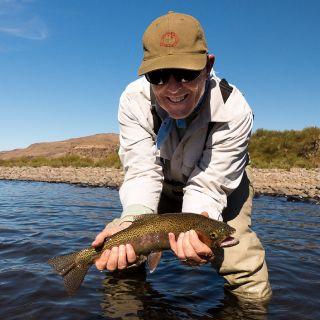 Rainbow trout on the Aluminé!