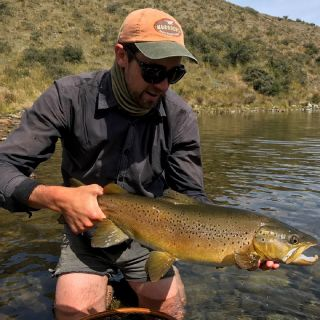 A cracker sighted and stalked still-water 6.5lb Brown trout on a dry-fly.