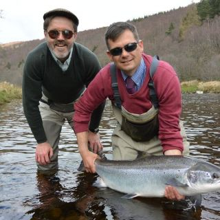 A beautiful salmon caught from the River Spey.