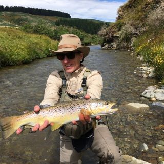 Small back country streams , eager trout = happy clients