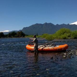 La vista espectacular del río Trancura