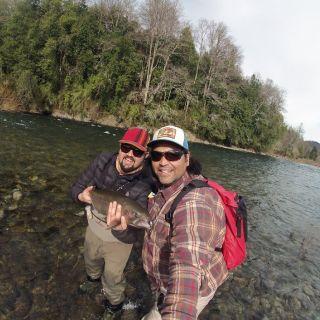 Trucha inicio de temporada río Trancura 3,5 kg