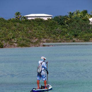 Paddle board fishing looking to spot those bonefish