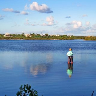 A still, calm lake just perfect for spotting those bonefish.