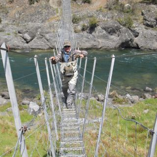 A swing bridge as you find them in North Canterbury New Zealand