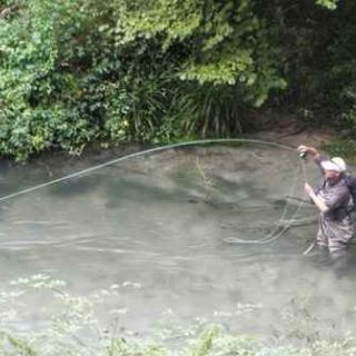 Supposed to be huge brown trout - it bent the hook and escaped... - River Nera - No kill streth