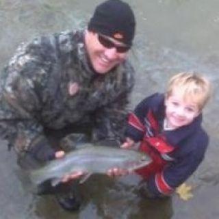 Nephew's First Steelhead Trout.