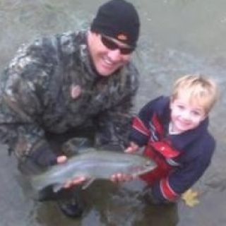 Nephew's First Steelhead Trout.
